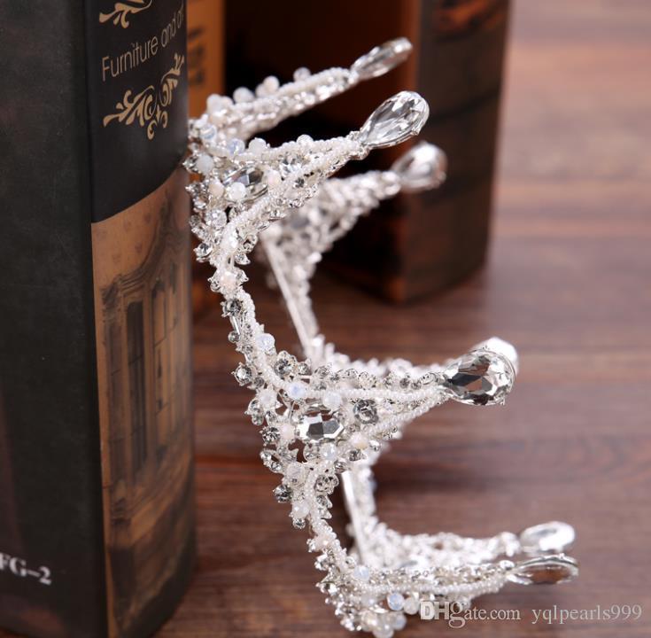 Новый сплав дрель Алмаз корона свадебный Корона Корона головные уборы платье аксессуары