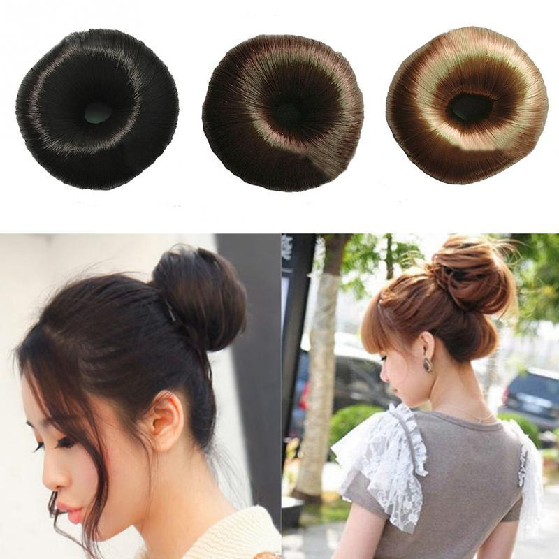 2018 Wig Rubber Band Women Girl Hairpiece Hair Styling Tool Bun Ring Donut  Shaper Hair Hair Bands For Women Hair Accessories Women From Beasy113 df993cd18