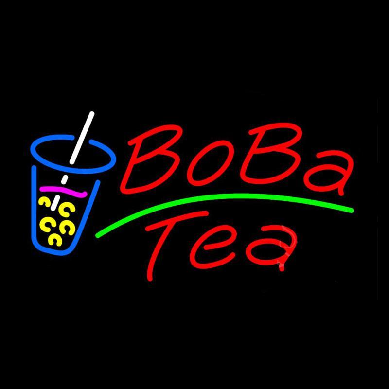 Boba Chá de Vidro Neon Sign Handmade Personalizado Tubo De Vidro Real  Bebida Loja Bar KTV Club Pub Anuncie Decoração Display Sinais de Néon 17 X