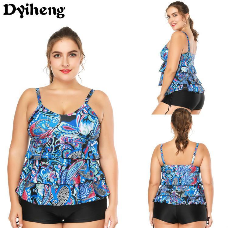 b93219c38bc Dyiheng 2018 Plus Size Swimwear Women Indoor Swimsuit Push Up ...