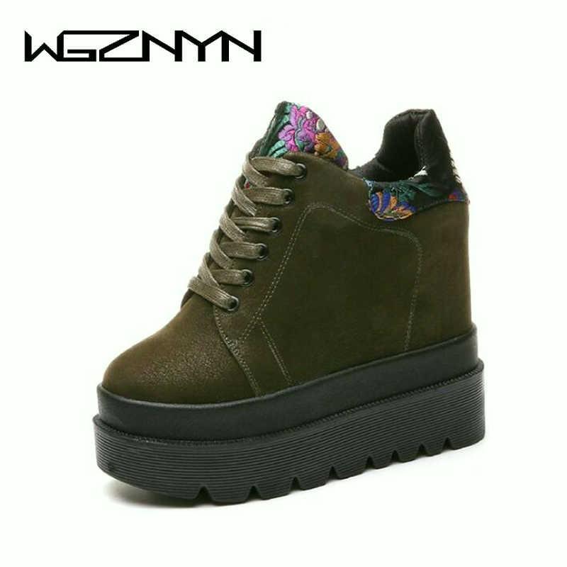 10d2774d7483 New Autumn Winter Boots Casual Women Martin Boot Shoes High Top Hidden  Heels Shoes Platform Ankle Boots 11CM Heels Sneakers W509 Chelsea Boot Mens  Chelsea ...