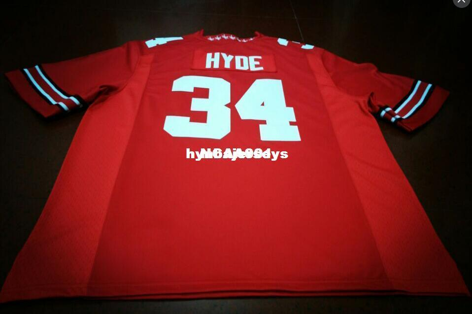 designer fashion f3783 0ef00 Cheap Men #34 Carlos Hyde Ohio State Buckeyes College College white red  black Personalized XS-6XL or custom any name or number jersey