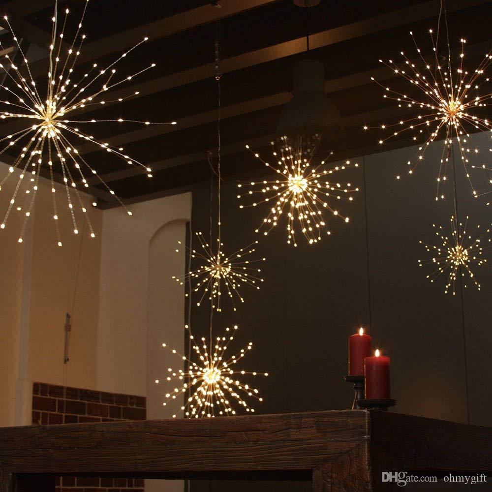 Must Watch 30 Stunning Deck Lighting Ideas: Dandelion Fireworks String Lights, LED Copper Starburst