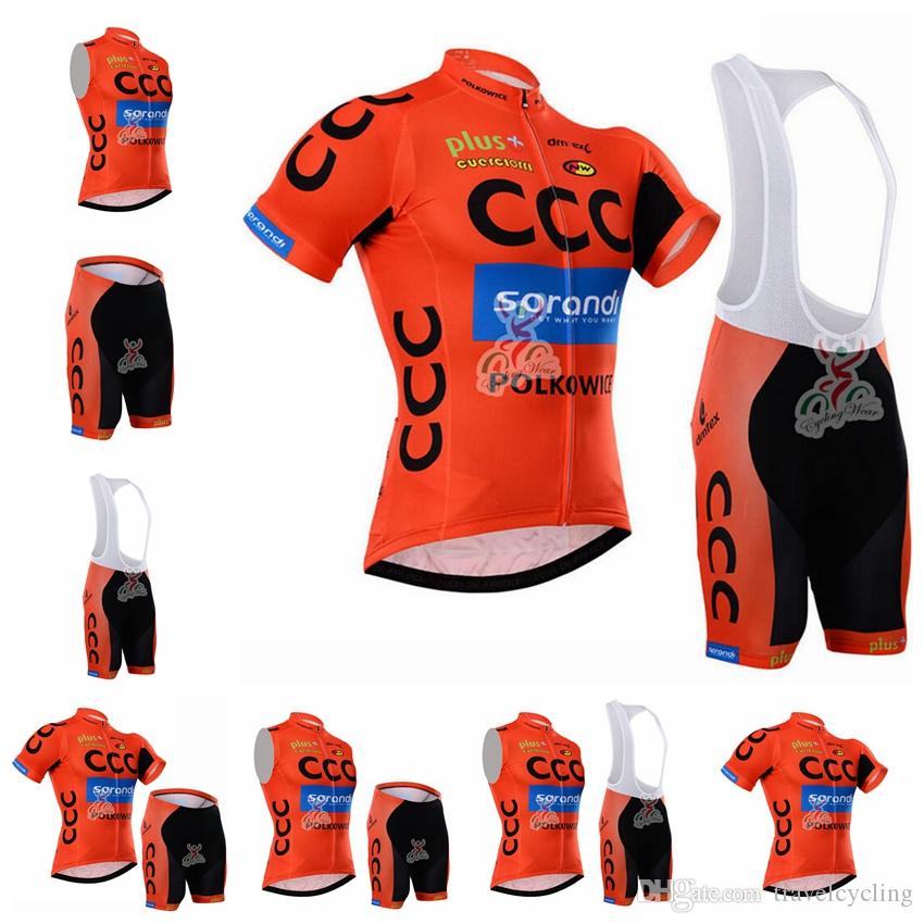 New Summer Men Team CCC Cycling Jersey Sports Short Sleeve Bike Shirt Bib  Shorts Suit Breathable Cycling Clothes Ropa Ciclismo 91808Y Cycling Kits  Bike ... 7565550bb