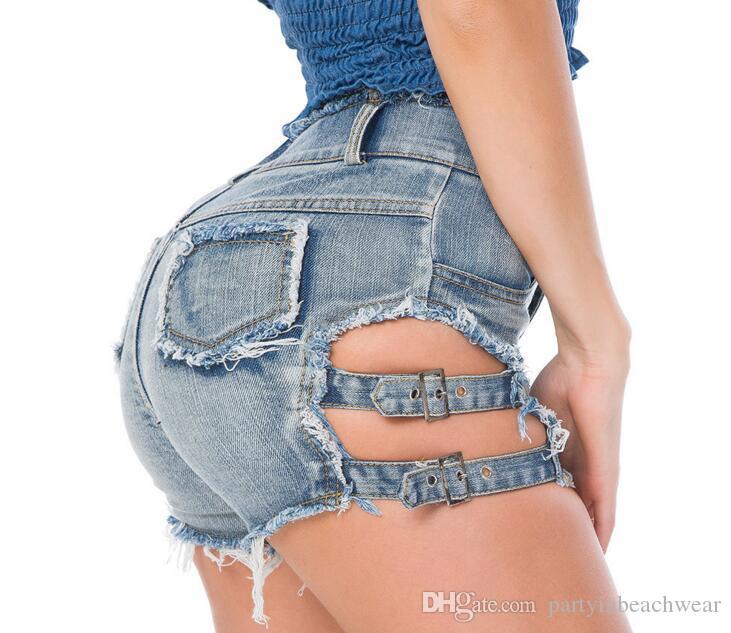 Été Holes Club Maillots Pour Pantalons Shorts Feminino Sexy Plage Haute Super Femmes Bain Bikini Taille Jeans Lettre Night De b7yf6gvY