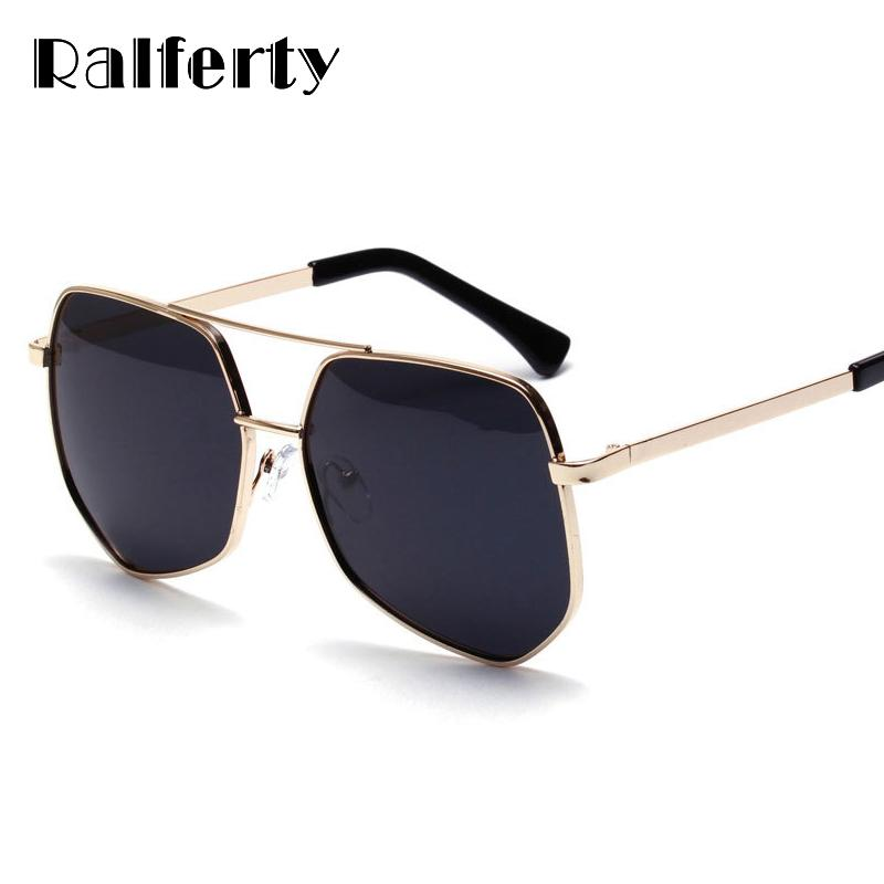 587af158fd2f7 Ralferty Oversized Polarized Sunglasses Women Designer Double Bridge  Hexagon Sunglass Female Black Shades Goggles Oculos A1126 Retro Sunglasses  Baseball ...