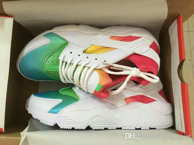 buy online 47162 ccb16 Compre Chaussures Huarache Rainbow Mujer Zapatos Corrientes Hombres  Diseñador De Calidad Superior Haches Homme Air Huarache Multicolor Zapatos  EE. UU. Nike ...