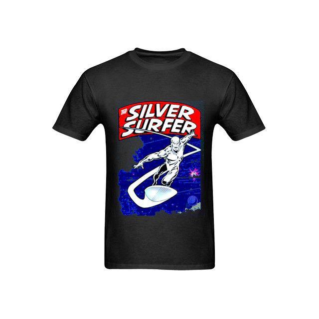 7eda6372ff Silver Surfer Tee T-shirts Black New Men s Tshirt TEE Size S to 3XL