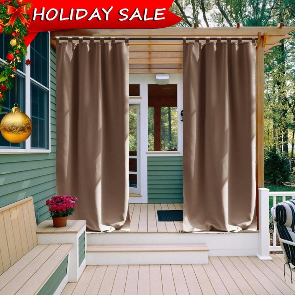 Curtain For Balcony: 2019 Outdoor Curtain Panel For Patio NICETOWN Tab Top