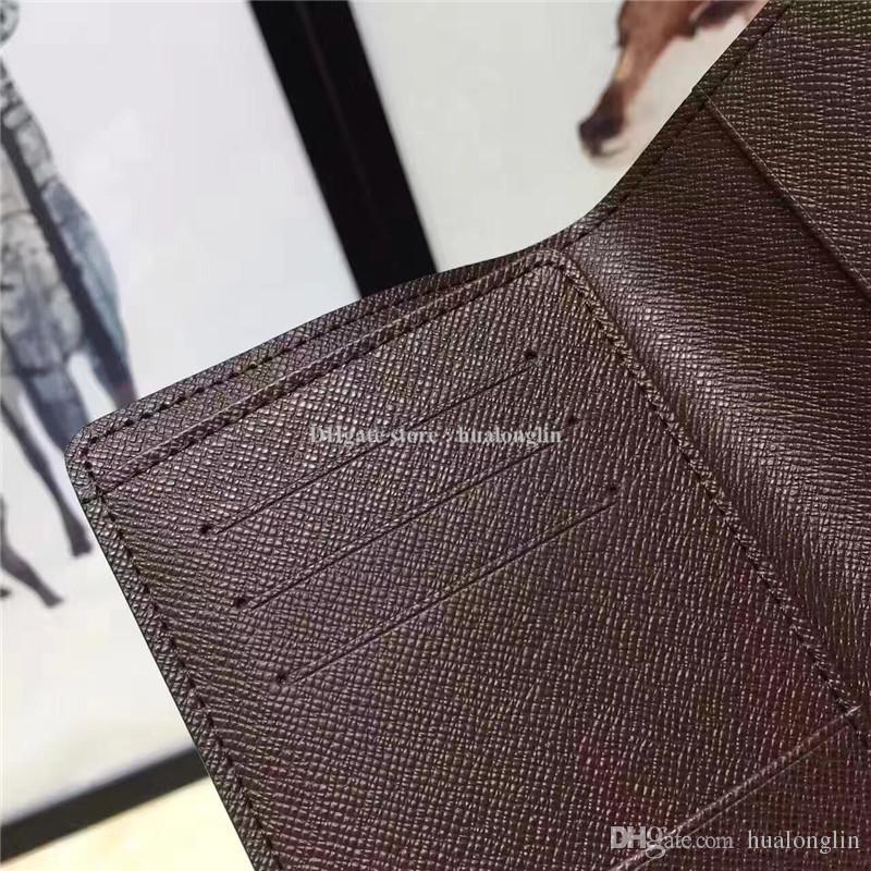 Mulheres e Homens Titulares Passport Cartões Saco Caixa Original de Alta Qualidade Moda Atacado Revisor Desconto