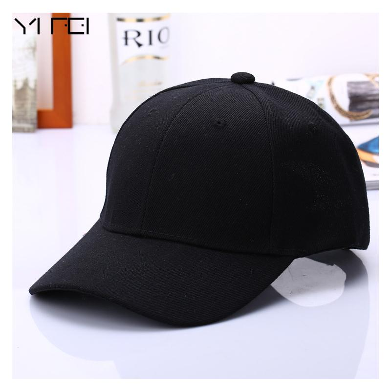63ed02ff458ab 2017 Black Cap Solid Color Baseball Cap Snapback Caps Casquette Hats Fitted Casual  Gorras Hip Hop Dad Hats For Men Women Unisex Flat Caps Trucker Caps From ...