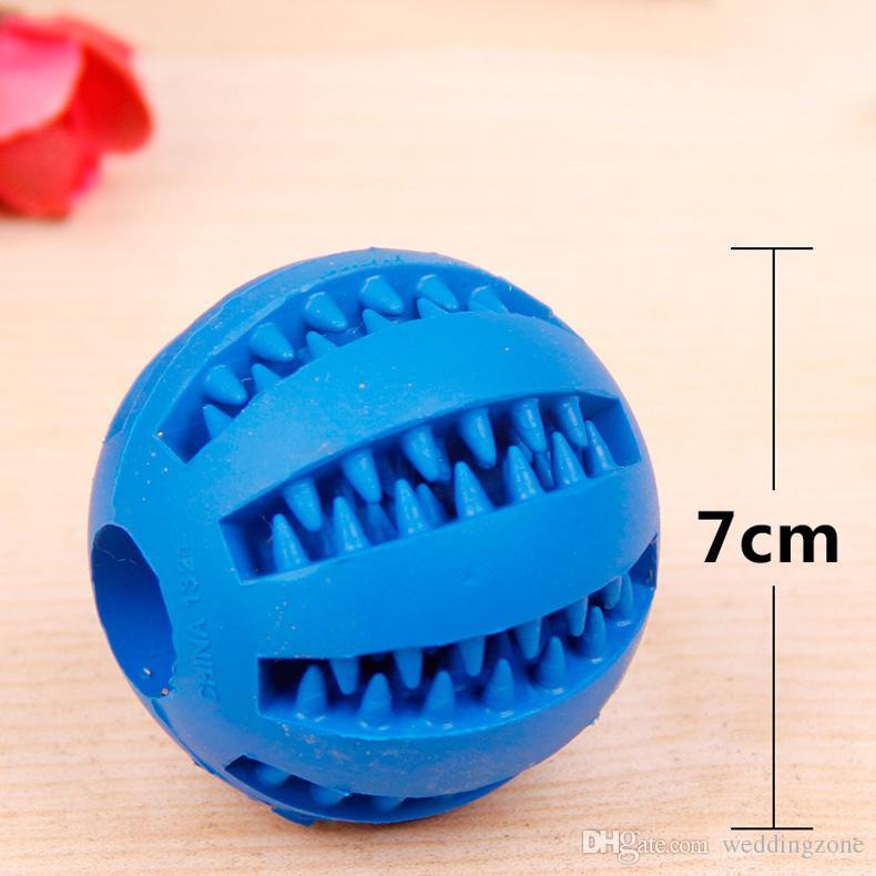Dientes sanos que limpian el alimento de la bola Dispensador de la invitación Mascota Caucho natural Tratamiento dental Juguetes orales Juguetes para masticar Para el cuidado de la salud del perro
