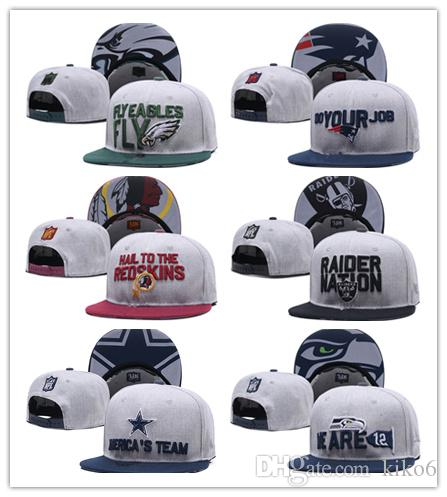 2018 New Football Soccer Snapback Hats Sports All Teams Caps Men Women  Adjustable Football Cap Size More Than 10000+ Style Millinery Richardson  Hats From ... 778cb5add4f