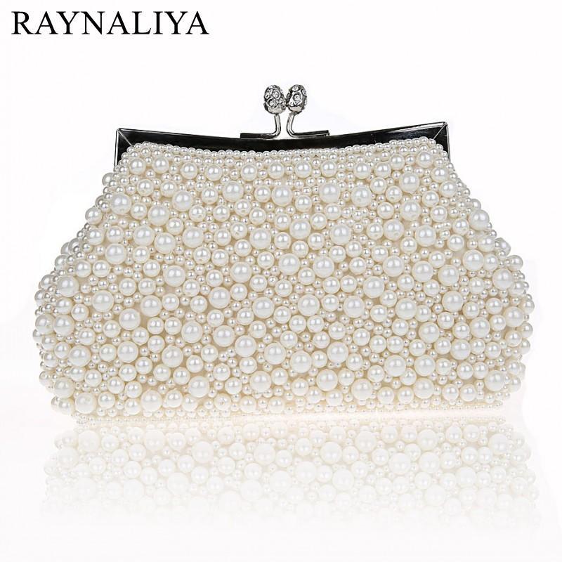 000671d6580 Luxury Women Evening Bags Handmade Pearl Party Clutch Bag Bridal Wedding  Crystal Beaded Sequin Banquet Handbag Smysfx E0100 Small Handbags Best  Handbags ...