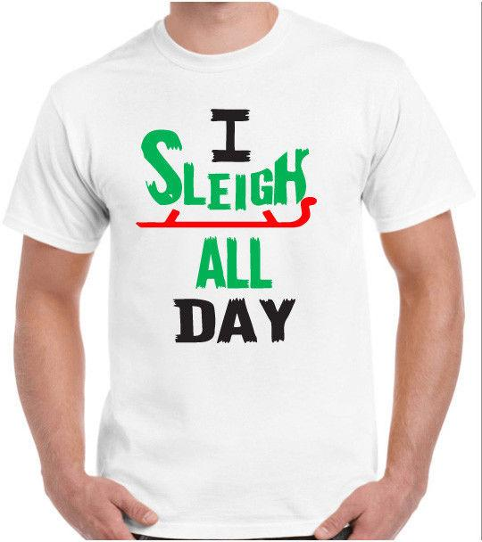 6ac6b441 Christmas T Shirt Funny Joke I Sleigh All Day Xmas Slay Selfie Novelty Santa  Awesome Tee Different T Shirts From Alltrends, $11.01| DHgate.Com