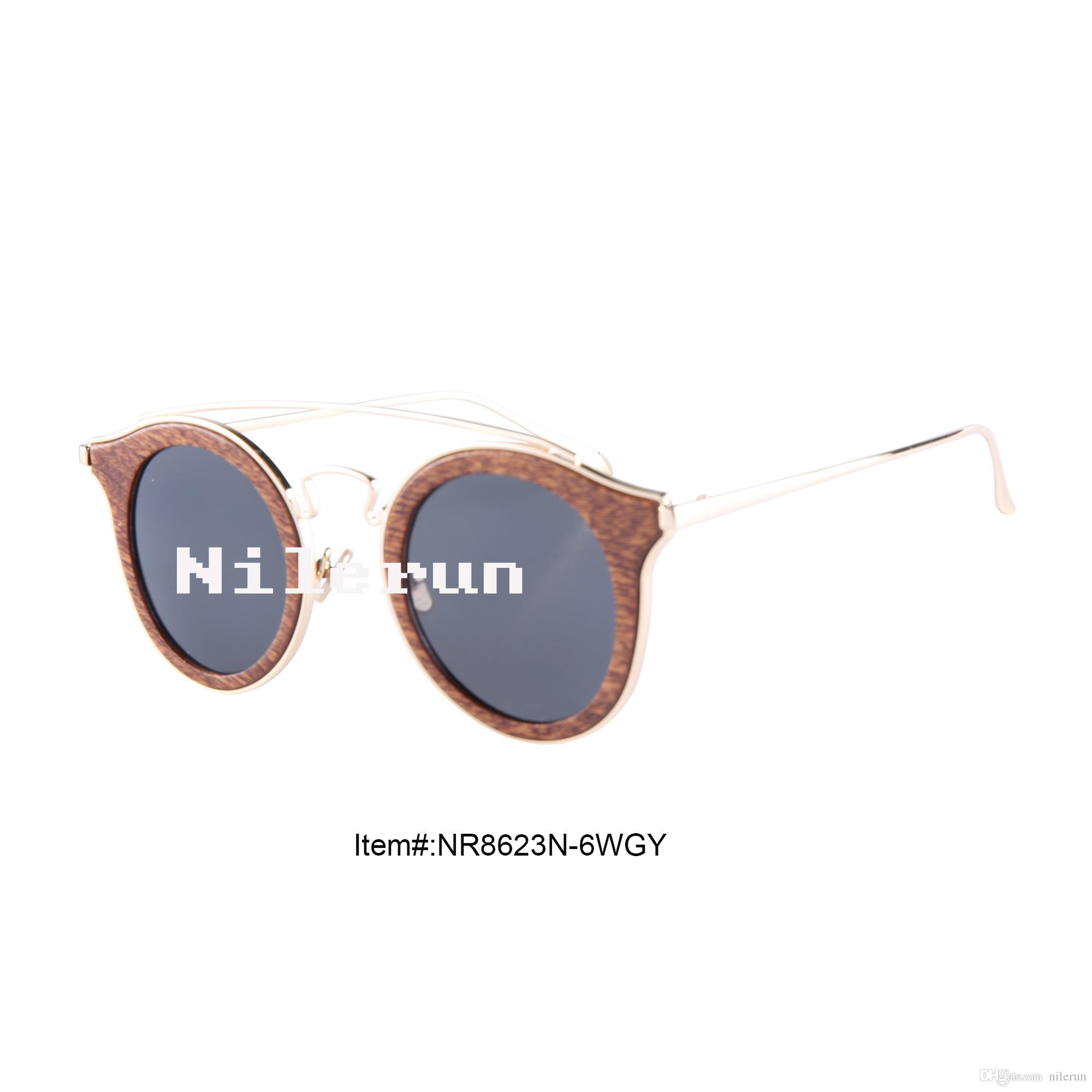 9c1b5169a9 Vintage Round Sapele Wood Metal Sunglasses Sapele Wood Sunglasses Metal  Sunglasses Wood Sunglasses Online with  43.78 Piece on Nilerun s Store