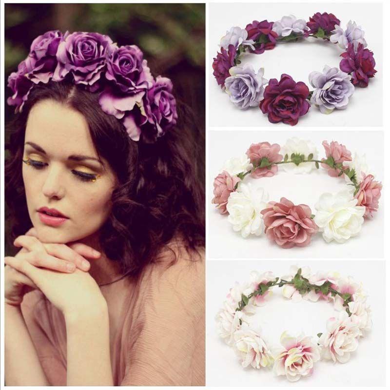 Grosshandel Frauen Stirnband Braut Blumen Stirnband Hochzeit Strand
