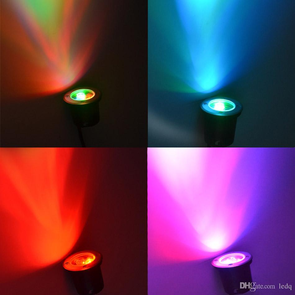 Подземный свет LED 3 Вт RGB открытый водонепроницаемый IP67 точечный светильник AC 12 В 24 В из нержавеющей стали материал для сада Plaza Landcape освещение FCC