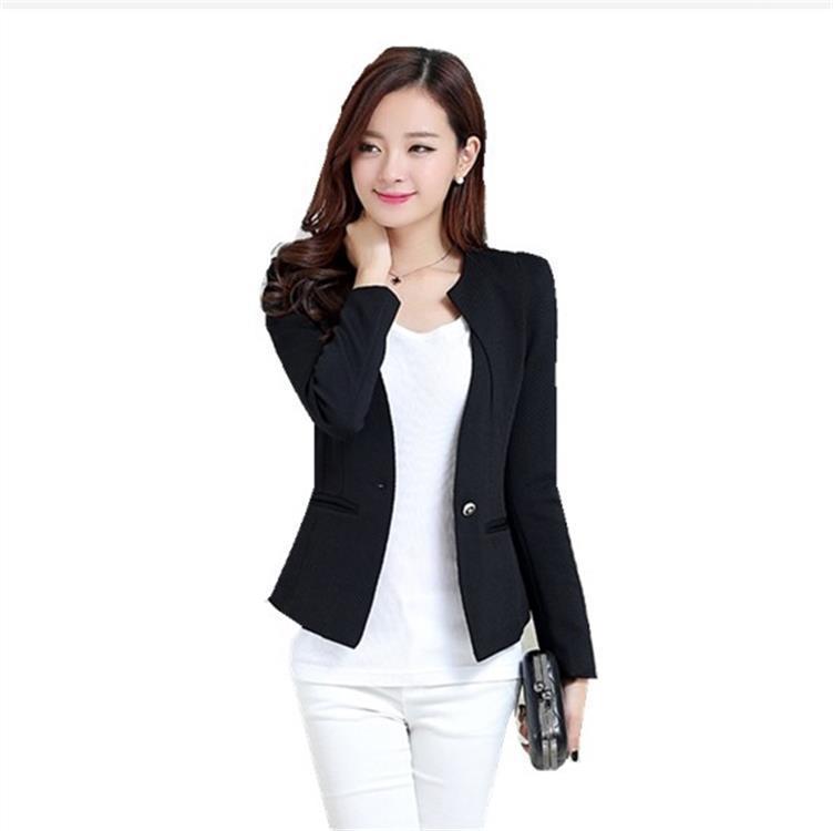 buy popular 0a480 a96a8 Giacca donna blazer casual giacca manica lunga monopetto autunno femminile  blazer feminino abbigliamento formale da lavoro outwear