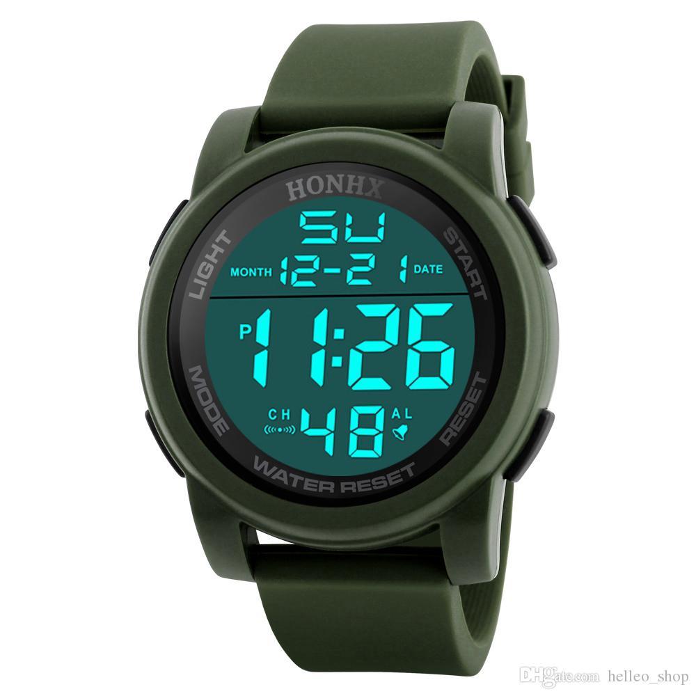 7bb9fbb5176b Compre 2018 TOP Fashion Electronics 30ATM Impermeable Relojes Deportivos Para  Hombres