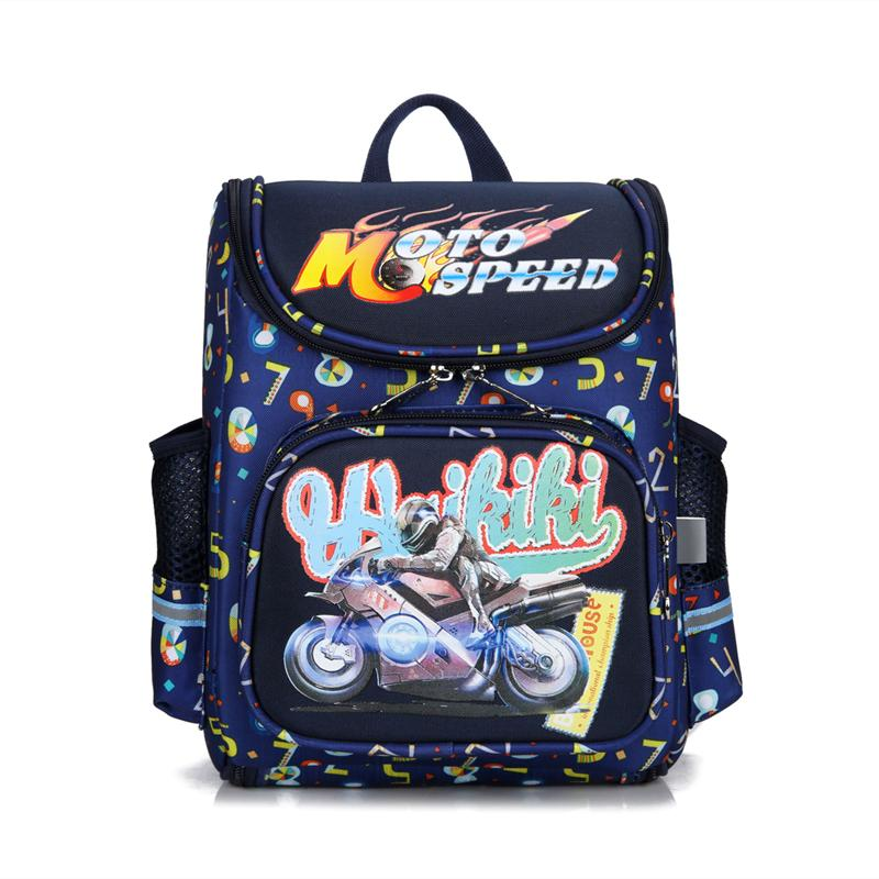 937f7c660d50 2018 Cartoon Motorcycle School Bags For Boys Car Print SchoolBag Children  Orthopedic Backpack Escolar Kids Rucksack Backpacks For Kids Bookbag From  Paradyse ...