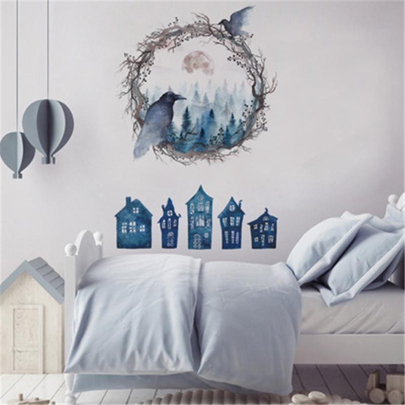 Großhandel Halloween Horror Ghost Wandaufkleber Schlafzimmer ...