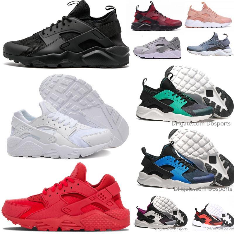 2b58cb7ee0f0 Compre 2018 Nike Air Huarache 4 Homens Mulheres Tênis De Corrida Todos Os  Huraches Branco Zapatos Ultra Respirar Huaraches Mens Formadores Hurache  Tênis ...