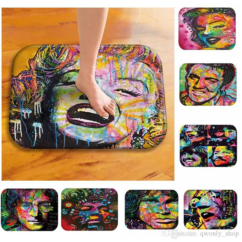 Colorful Figure Pet Dog Printing Kitchen Entrance Carpet Doormats Anti-slip Floor Mat for Babies Animal Pug Front Door Mat Rug 20styles
