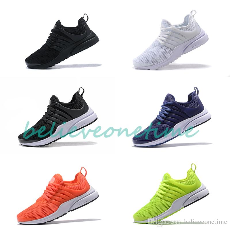 premium selection 7f50b 74d6a Newest Presto Mesh Black White Blue Orange Green Running Shoes For Men  Women prestos Walking designer Sports Sneakers With Box Size 36-46