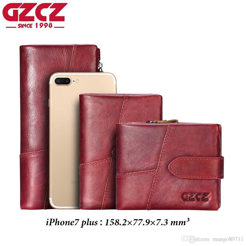 6b07a89666e02 GZCZ Famous Brand Women Wallets Luxury Genuine Cow Leather Design ...
