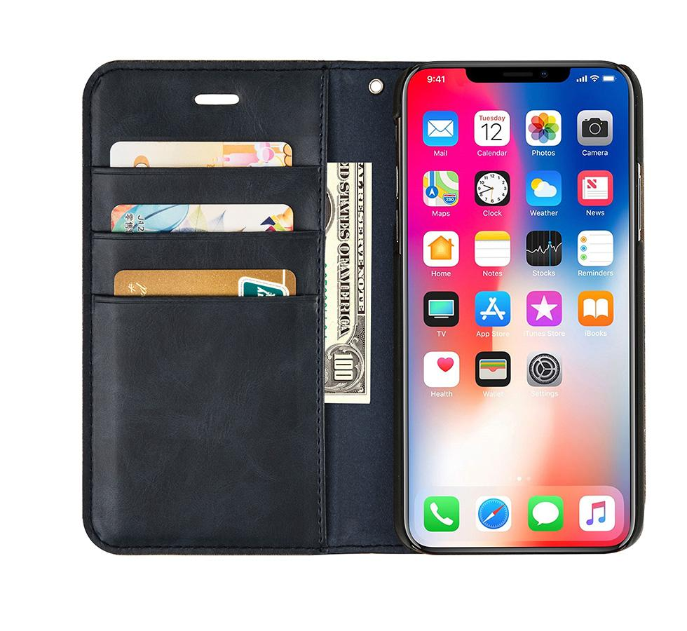 Flip Cover Cell Phone case Leather Adjustable Mobile Phone Case With Credit Card Holder Wallet Card Slot phone for iphone 7 6 Plus X 8 Plus