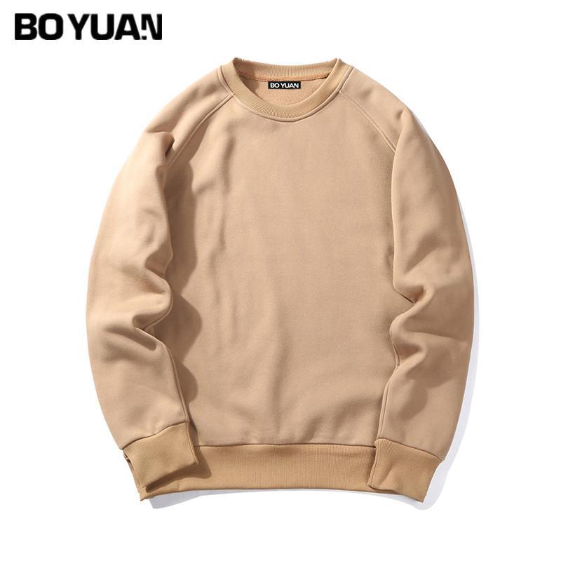 0ae8218df18 BOYUAN Brand Spring Autumn New Men Casual Hoodies Sweatshirt Solid ...