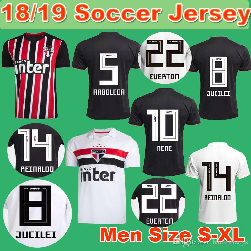 8c96c0bf1 18 19 Sao Paulo Soccer Jersey 2018 2019 NENE Men Home Away Jerseys ...