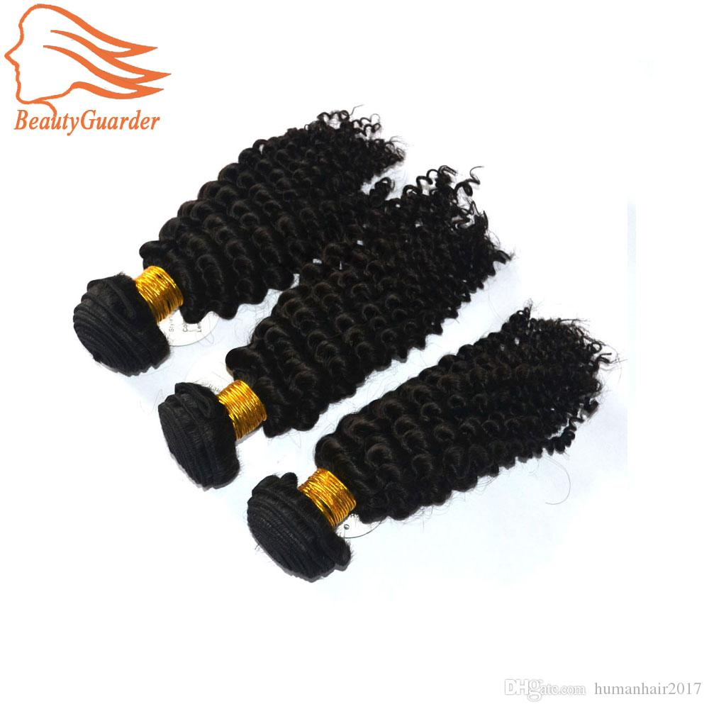 Brazilian Peruvian Indian Virgin Hair 3 Bundles Virgin Brazilian Kinky Curly Hair Weaves Natural Black Brazilian Curly Human Hair Extensions