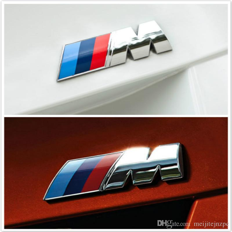 Car Styling 3D Metal Car Stickers M Power Performance Badge Fender Emblem Sticker Para BMW Accesorios Exterior