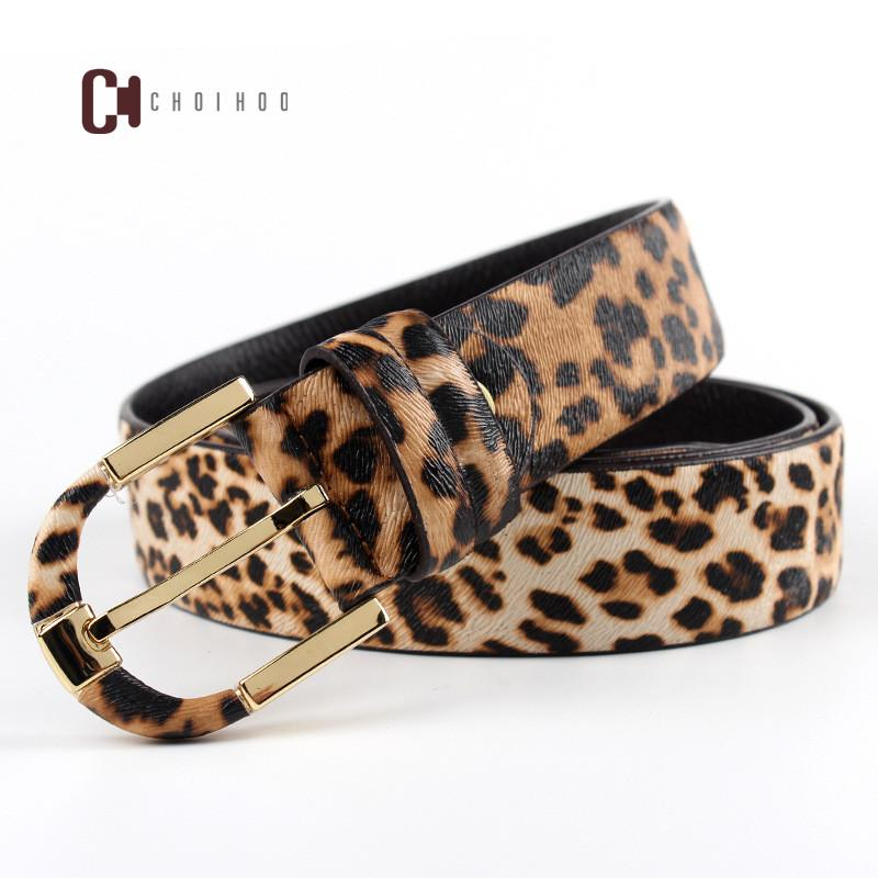 100% cowhide high quality design leopard print needle buckle belt, famous brand fashion lady's belt, women Jeans Belt 210