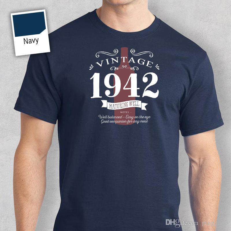 75th Birthday Gift Present Idea For Boys Dad Him Men T Shirt 75 Tee 1942 Printed Cotton New Style Coolest Tees Shirts From