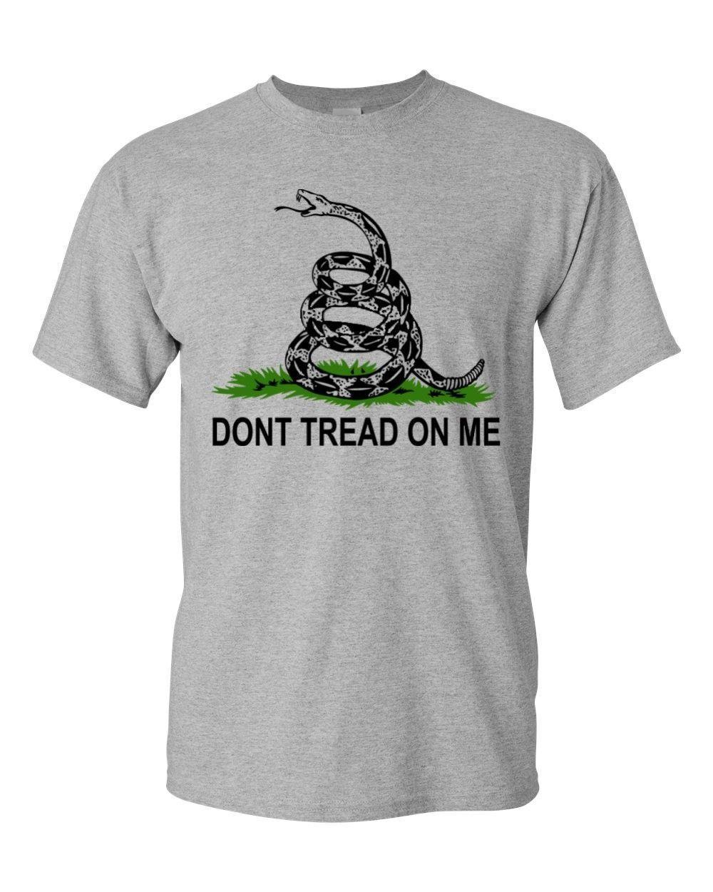 280edfb29bb55 Compre Crear Una Camiseta Bandera Histórica De Gadsden No Pise En Mí Figura  De Serpiente Camiseta Americana De Cuello Redondo Pride De Hombres  Orgullosos A ...