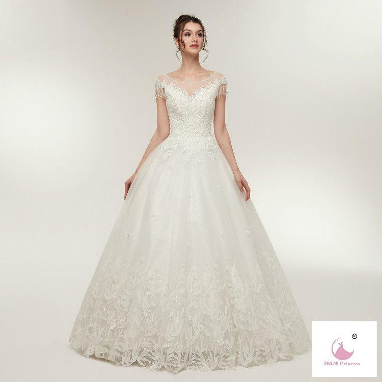 Bridal Gown 2018 Wholesale Heavy Lace Wedding Dress 2018 Bridal ...