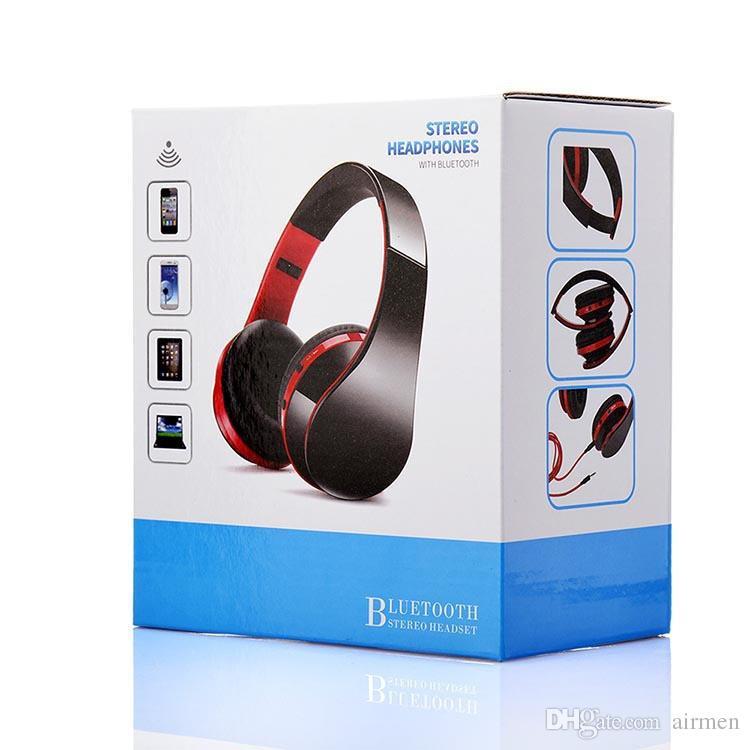 Nuevo NX-8252 Auriculares inalámbricos plegables Bluetooth Auriculares Auriculares deportivos que ejecutan estéreo Bluetooth V3.0 + EDR con empaque minorista DHL FEDEX