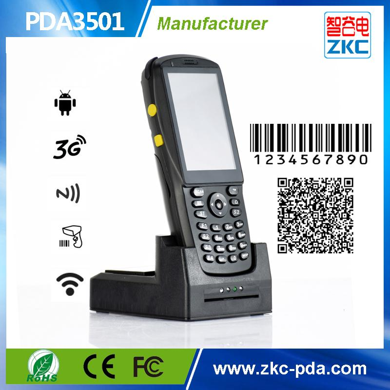 Android Handheld qr code Scanner with rfid reader , 3 5inch Touch Screen  pda barcode scanner with 3G WIFI Bluetooth PSAM