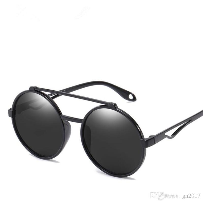 c9fbcecaa3a7 Women   Men Personality Sunglasses Black Color Round Frame Sunglasses Color  Film Retro Eyeglasses Anti UV Spectacles Couple Sun Glasses Sunglasses ...