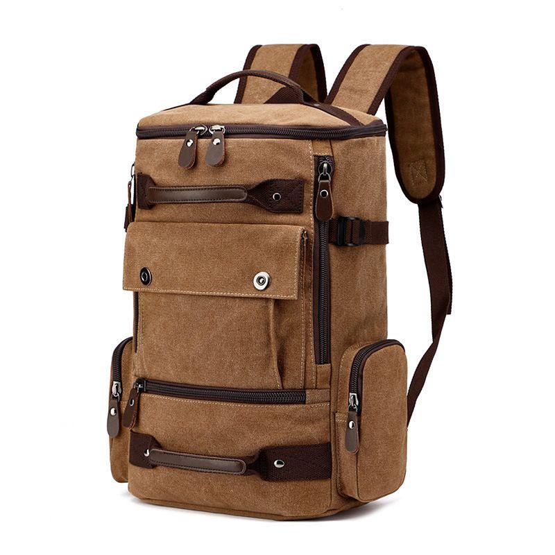 0cc8e84f6fdf Functional Male Canvas Travel Large Capacity Backpack Outdoor Sport  Shoulders Package Computer Backpacking Men Versatile Bags Backpacks For Men  Jansport Big ...