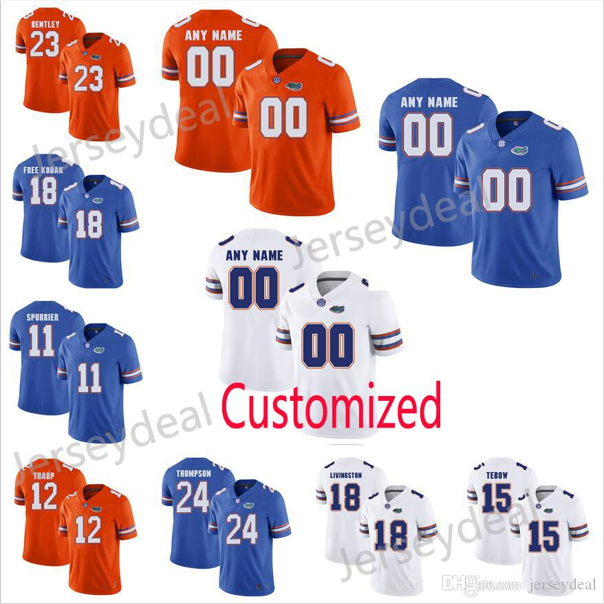 3314c569bddf9c ... low price kids florida gators customized white jersey 2018 custom florida  gators college football jerseys blue