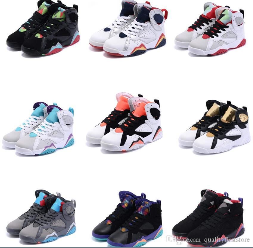 los angeles b09fd e7b44 Kids 7 Basketball Shoes For Boys Girls Barons Wolf Grey French Youth 7s  Sports Athletic Children Sneakers Regression Size EU28 35 Cool Kids Shoes  Good Shoes ...
