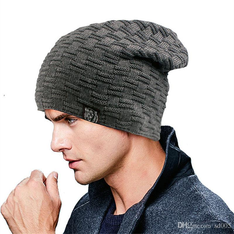 5c40fdfc70c Men Women Winter Sleeve Head Cap Knitting No Eaves Caps Woolen Hat Warm Ear  Guard Hats Beanie 12 13zl Gg Slouchy Beanie Skull Cap From Sd005
