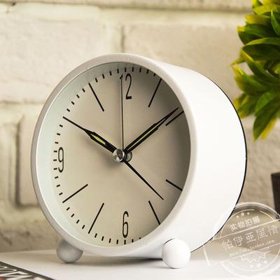 2018 European Metal Small Desk Clock Contracted Mute Of The Head A Bed Creative Students Luminous From Jasm 42 22 Dhgate Com