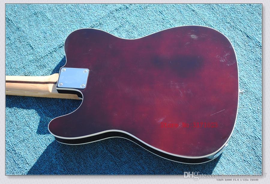 Venta al por mayor Guitar Factory Alta calidad Telecaster Guitarra Maple Fingerboard Sunburst tele Guitarra Eléctrica Chrome Hardware envío gratis