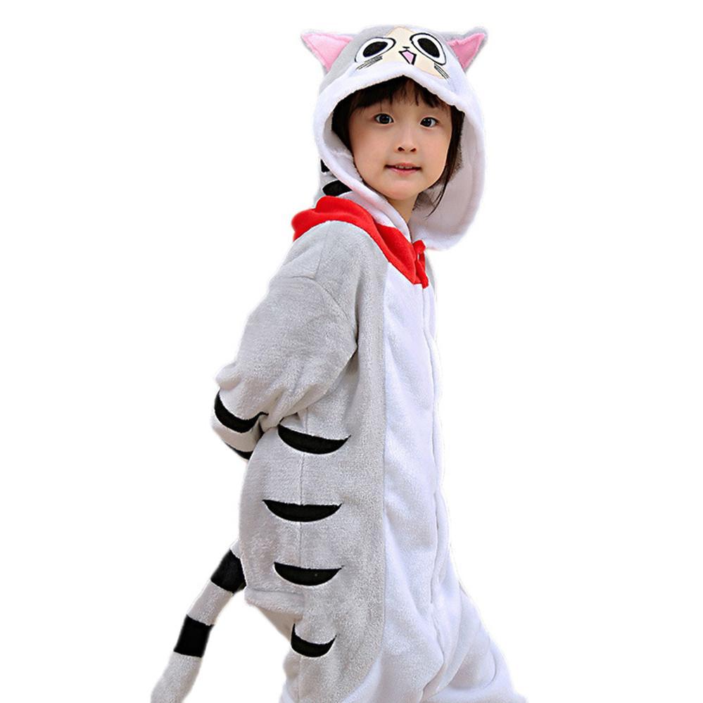 be70070c0 Compre Ropa De Niña Niños Con Capucha Pijamas Franela De Invierno Gato De  Dibujos Animados Niños Niños Niñas Pijamas Pijamas De Bebé Ropa De Dormir 4  6 8 10 ...