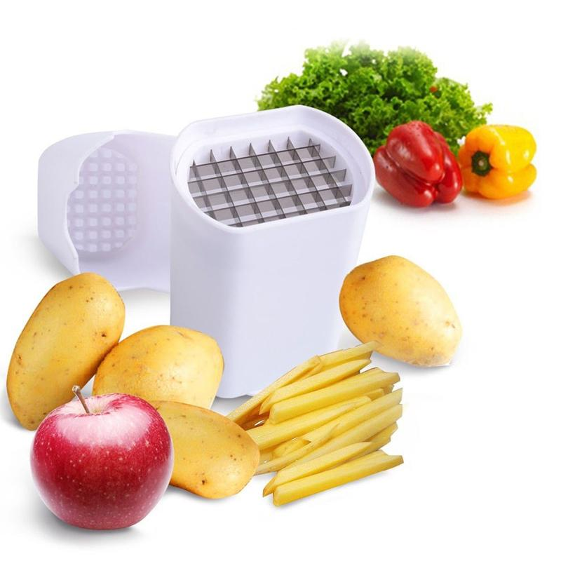 Potato Fry Cutter Fries Chips Vegetable Natural French Fry Cutter Vegetable Fruit Cutter Slicer Tool 12.5 x 9.5 cm